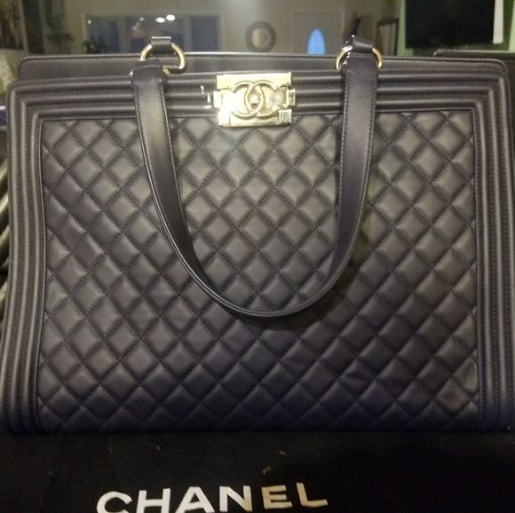 188f0ddb642f CHANEL Bags | Bag Dark Blue Caviar Grained Calfskin Chain | Poshmark